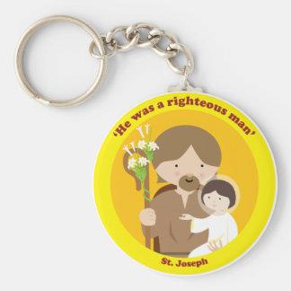 St. Joseph Basic Round Button Keychain