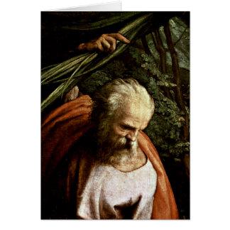 St. Joseph By Antonio Allegri Da Correggio Greeting Cards