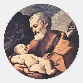 St Joseph by Guido Reni Sticker