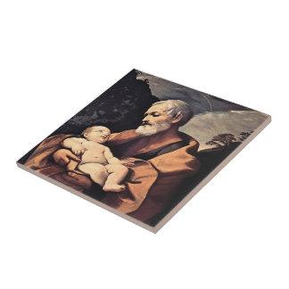 St Joseph by Guido Reni Tile