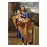 St. Joseph Carrying the Infant Jesus, 1665 Greeting Cards