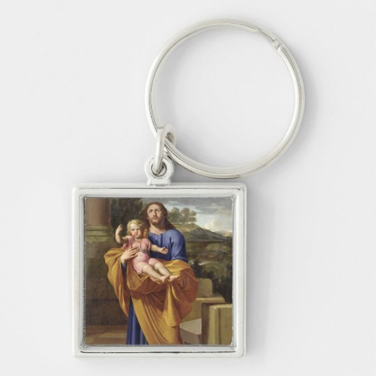 St. Joseph Carrying the Infant Jesus, 1665 Keychain
