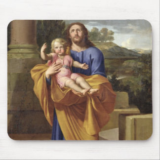 St. Joseph Carrying the Infant Jesus, 1665 Mouse Pad