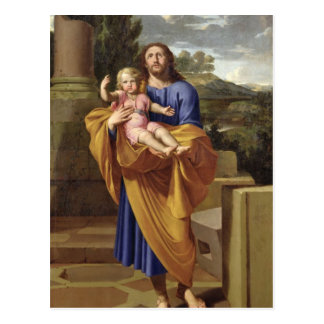 St. Joseph Carrying the Infant Jesus, 1665 Postcard