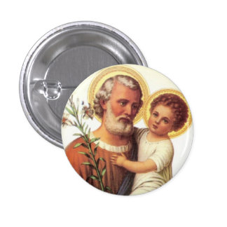St. Joseph Child Jesus Button - Gift idea!