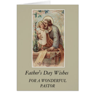 St. Joseph & Child Jesus Father's Day PASTOR Card
