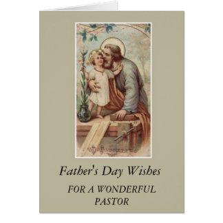 St. Joseph & Child Jesus Father's Day PASTOR Card
