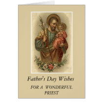 St. Joseph & Child Jesus Father's Day Priest Card