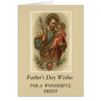 St. Joseph & Child Jesus Father's Day Priest Card