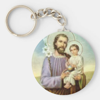 St. Joseph & Child Jesus Keychain
