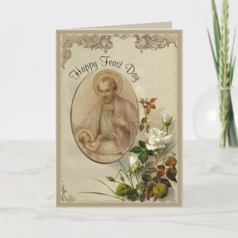 St. Joseph Feast Day Catholic Religious Card