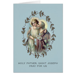 St. Joseph Foster Father w/Jesus Card