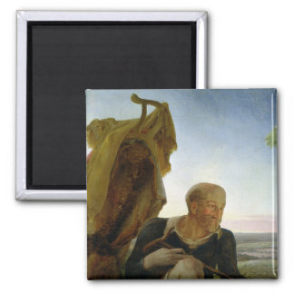 St Joseph from 'Rest on the Flight into Egypt' 2 Inch Square Magnet