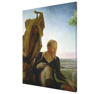 St Joseph from Rest on the Flight into Egypt Stretched Canvas Prints