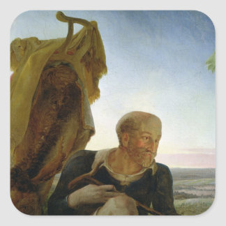 St Joseph from 'Rest on the Flight into Egypt' Square Sticker