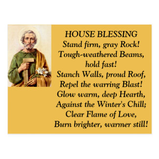 St. Joseph House Blessing Post Card
