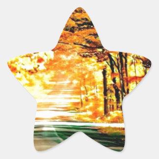 St Joseph Island Country Road Star Sticker