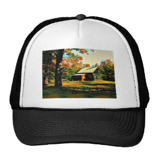 St Joseph Island Log Cabin Trucker Hat