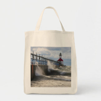 St Joseph Lighthouse and Pier Tote Bag
