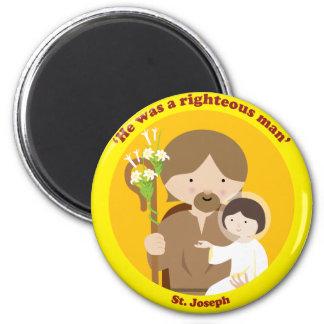 St. Joseph 2 Inch Round Magnet
