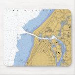 St Joseph, MI Nautical Harbor Chart Mousepad