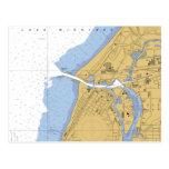 St Joseph, MI Nautical Harbor Chart Postcard