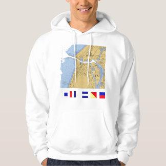 St Joseph, MI Nautical Harbor Chart Shirt