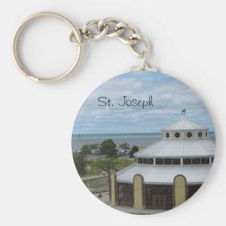 St. Joseph, Michigan Basic Round Button Keychain