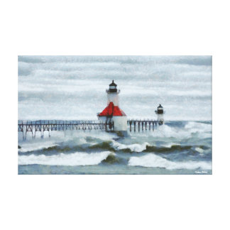 St Joseph Michigan Lighthouse Canvas Artwork Gallery Wrapped Canvas