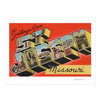 St. Joseph, Missouri - Large Letter Scenes Postcards