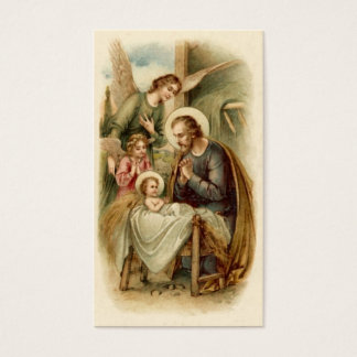 St. Joseph Nativity Prayer Card (Mt 1:20-21)