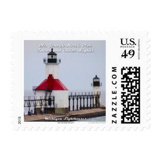 St. Joseph North Pier Lights: 1st Class Stamp