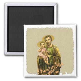 St Joseph Novena 2 Inch Square Magnet