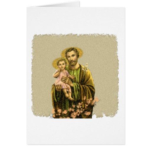 St Joseph Novena Greeting Card