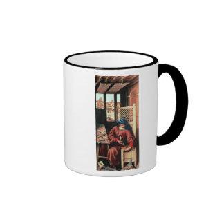 St. Joseph Portrayed as a Medieval Carpenter Ringer Coffee Mug