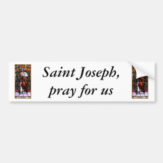 St. Joseph pray for us - stained glass window Bumper Sticker