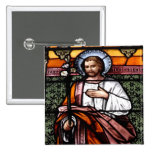 St. Joseph pray for us - stained glass window Button