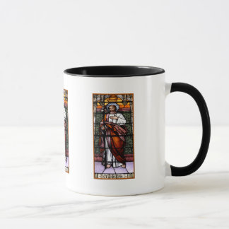 St. Joseph pray for us - stained glass window Mug