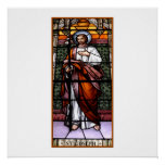St. Joseph pray for us - stained glass window Poster