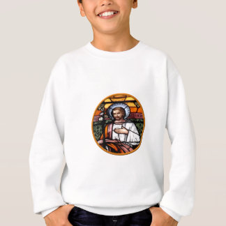 St. Joseph pray for us - stained glass window Sweatshirt