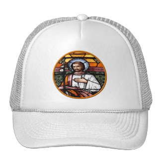 St. Joseph pray for us - stained glass window Trucker Hat