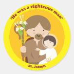 St. Joseph Round Sticker