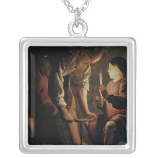 St. Joseph, the Carpenter Silver Plated Necklace