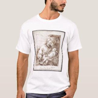 St. Joseph with the Sleeping Christ Child (pen & b T-Shirt