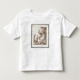 St. Joseph with the Sleeping Christ Child (pen & b Toddler T-shirt