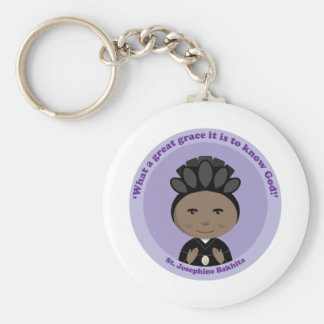St. Josephine Bakhita Basic Round Button Keychain