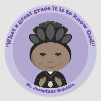 St. Josephine Bakhita Pegatina Redonda