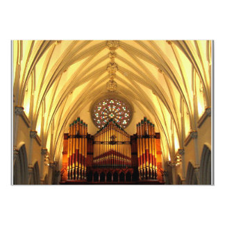 St. Joseph's Cathedral - Choir Loft / Organ Pipes Card