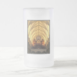 St. Joseph's Cathedral - Choir Loft / Organ Pipes Frosted Glass Beer Mug