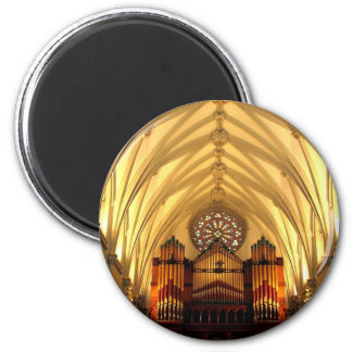 St. Joseph's Cathedral - Choir Loft / Organ Pipes 2 Inch Round Magnet